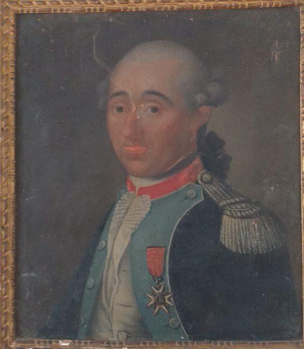 portrait officier 18eme en l etat