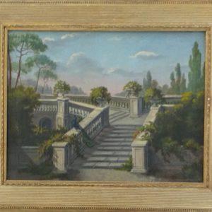 Escalier menant à la terrasse